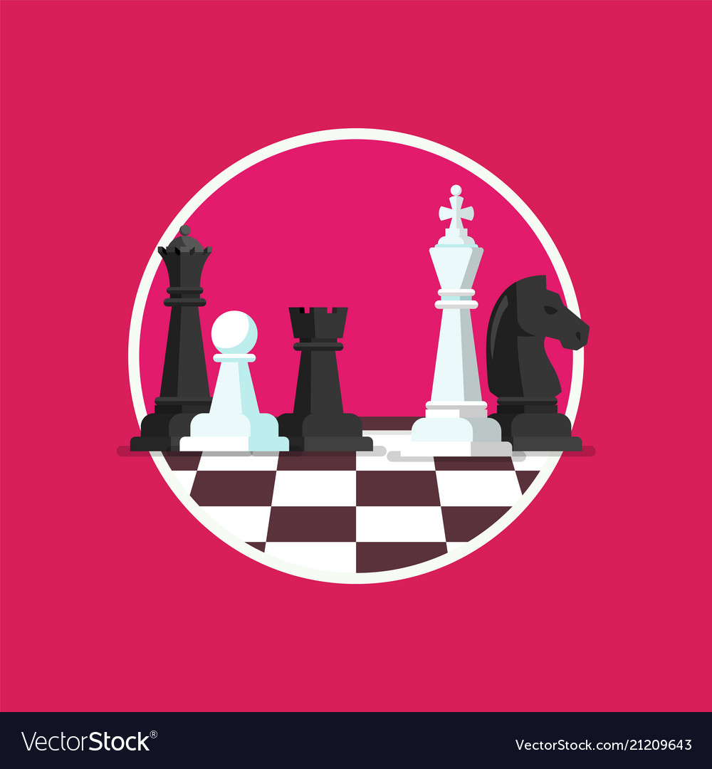 Business strategy with chess figures on a chess
