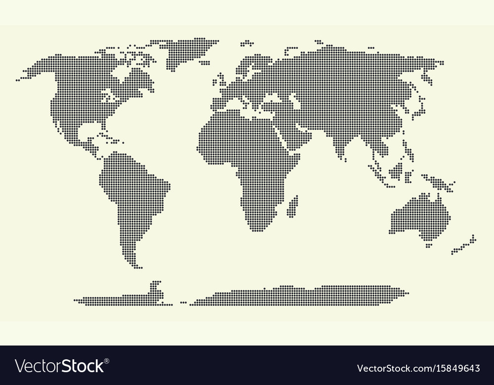Dotted world map world map of vector image