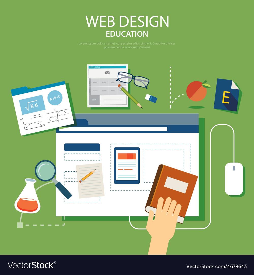 Education website development project design conce