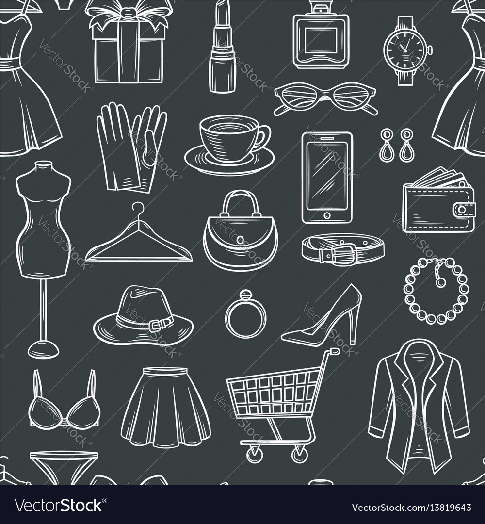 Fashion sale seamless pattern vector image