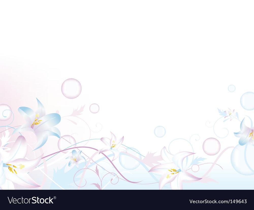 Floral bubbly decoration