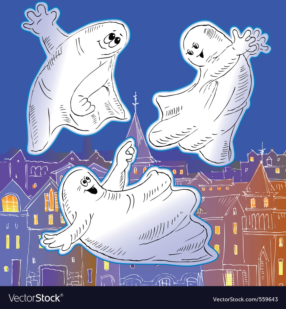 Ghost drawing vector image