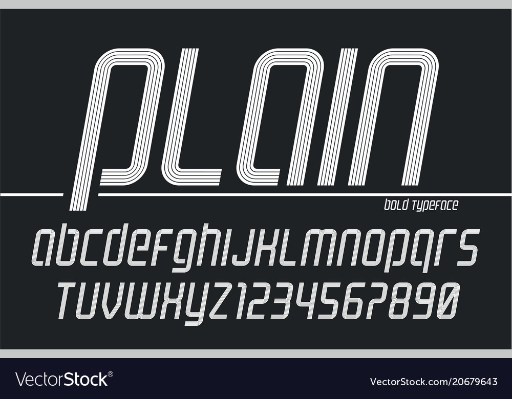 Plain display font popart design alphabet