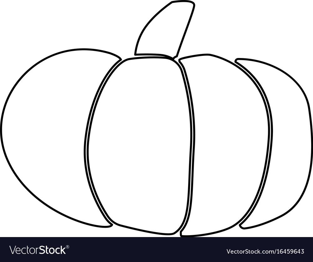 Pumpkin black color icon vector image