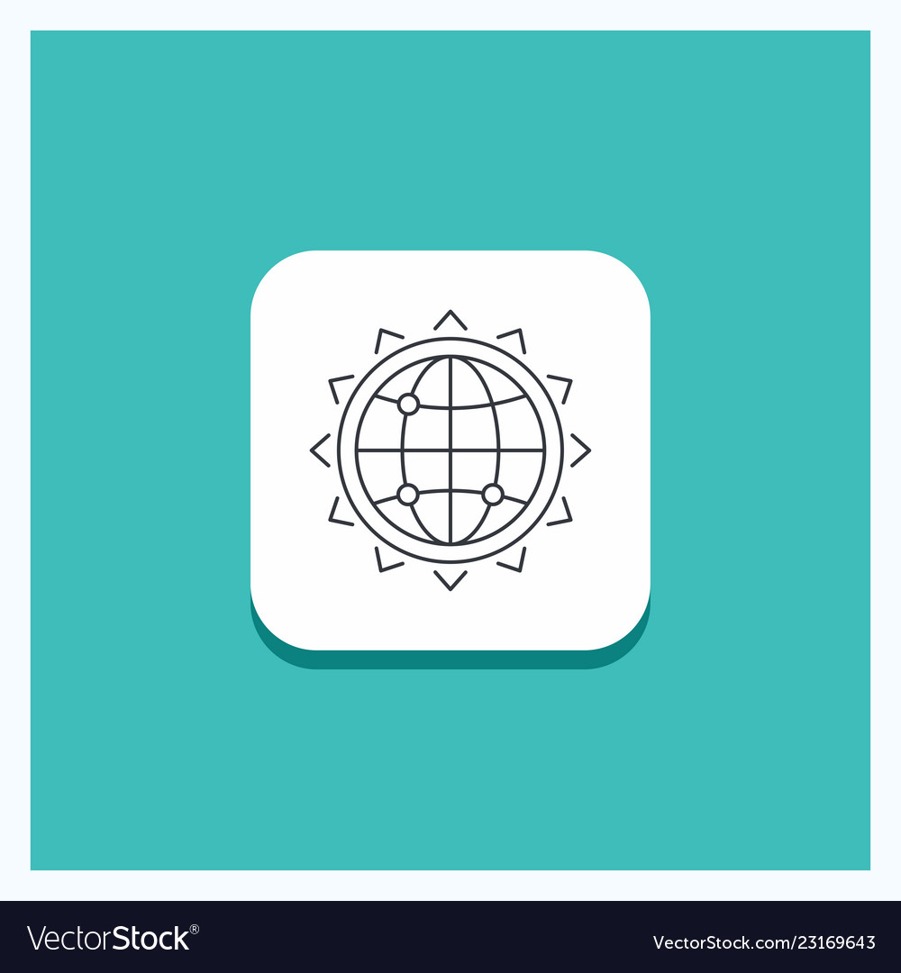 Round button for world globe seo business