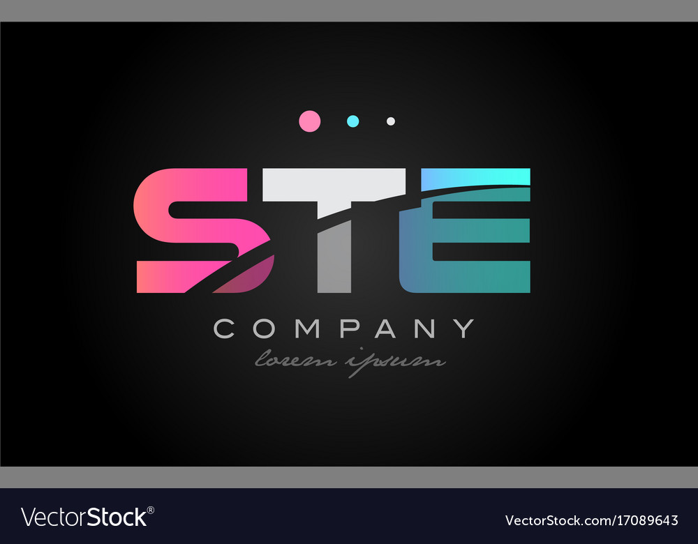 ste s t e three letter logo icon design royalty free vector
