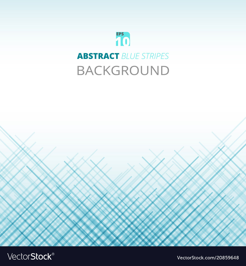 Abstract of blue stripes pattern background vector image