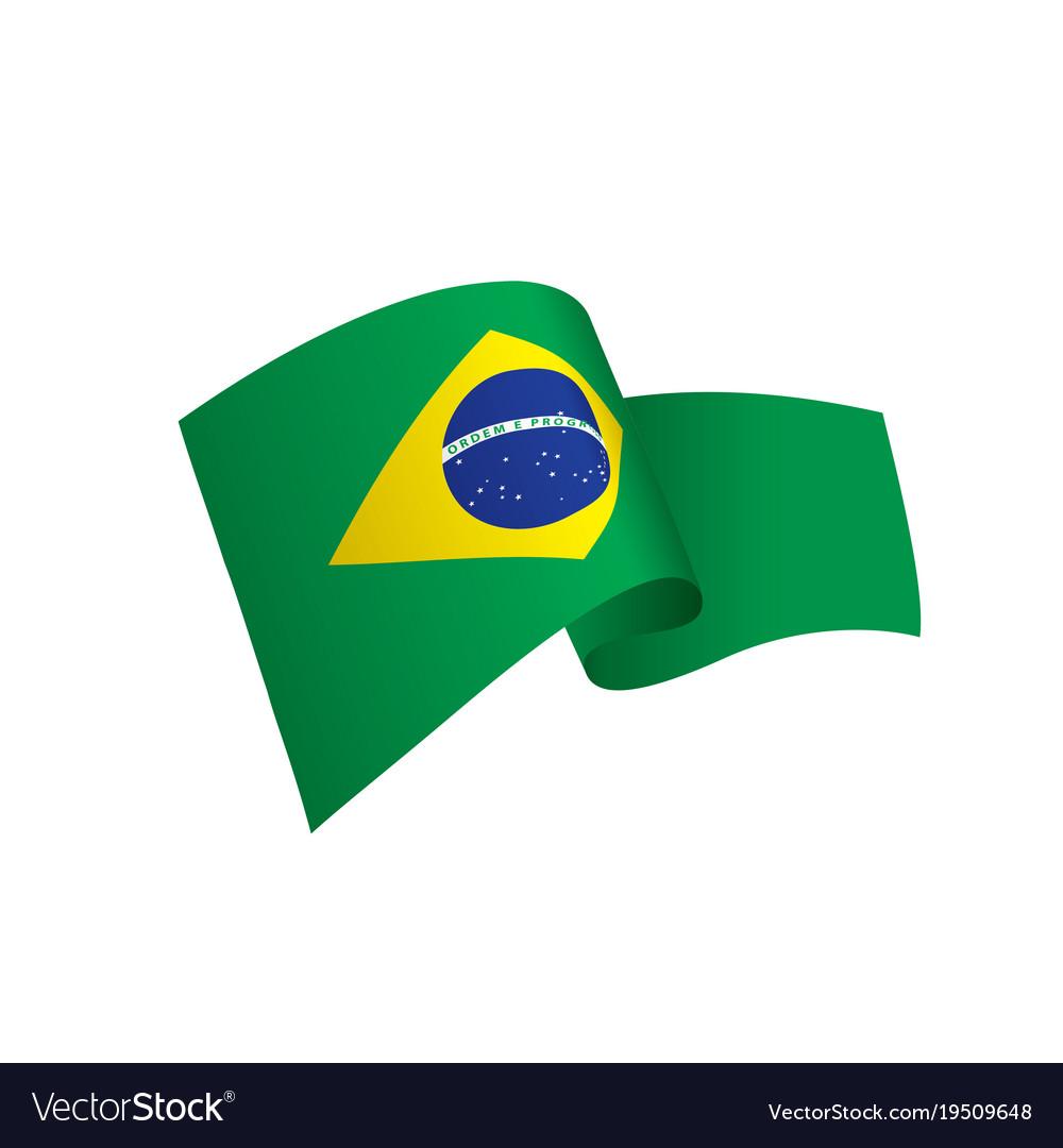 brazil flag royalty free vector image vectorstock rh vectorstock com brazil flag vector ai brazil flag circle vector