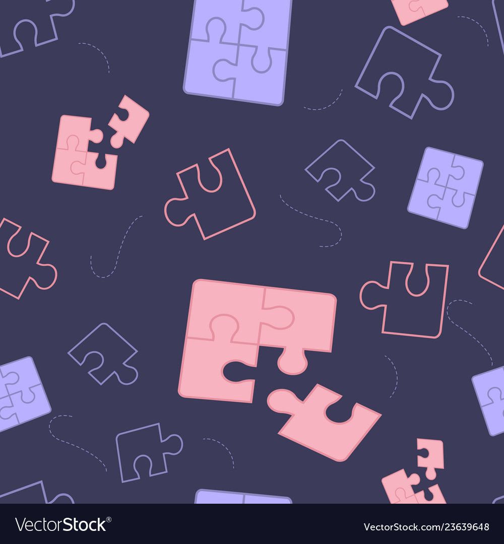 Components puzzle on dark background