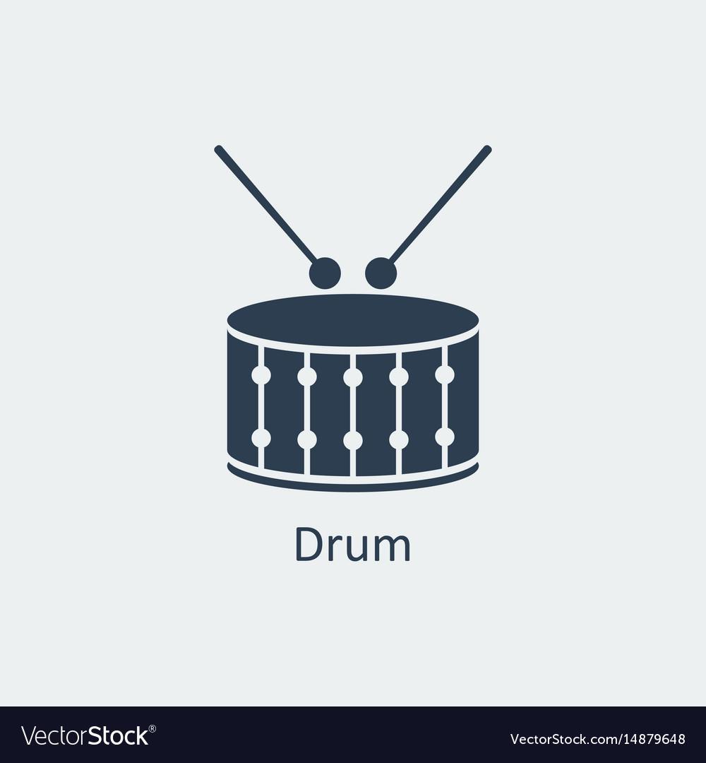Drum icon silhouette icon vector image