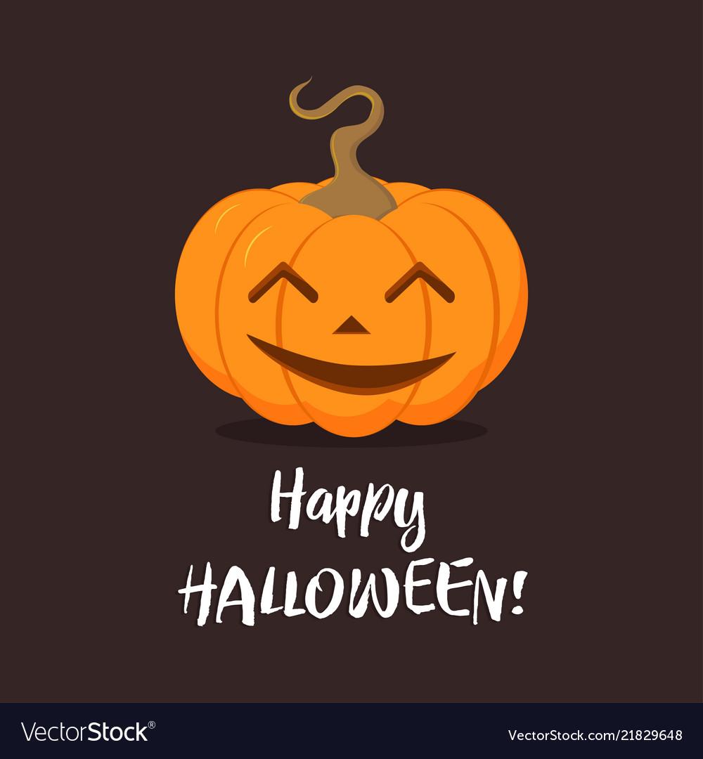 Halloween pumpkin on dark