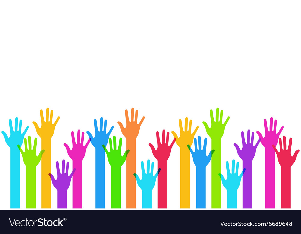 Modern colorful hands background