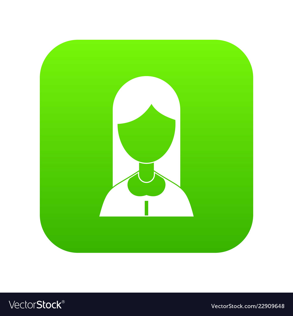 Mother icon digital green