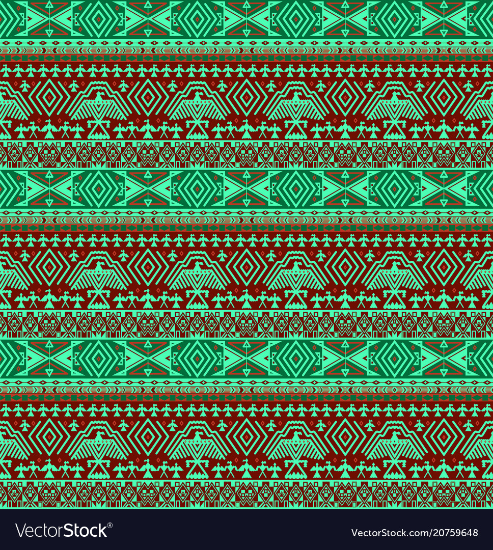 Tribal ethno seamless background