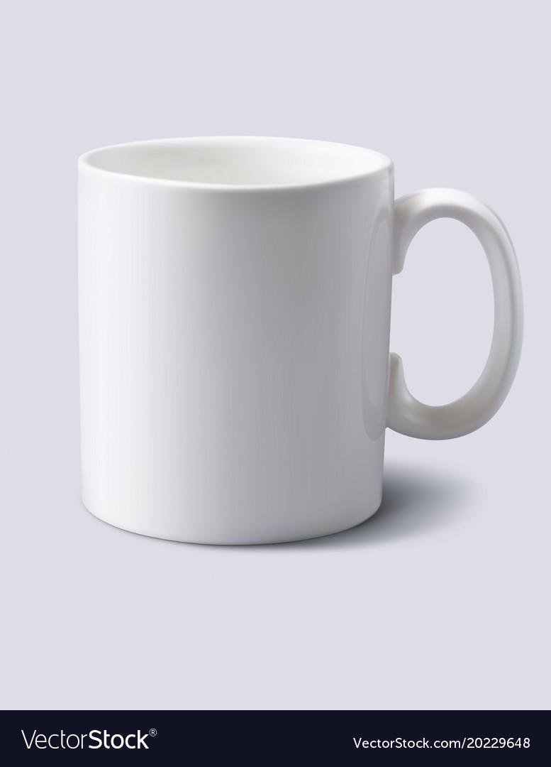 White mug realistic 3d