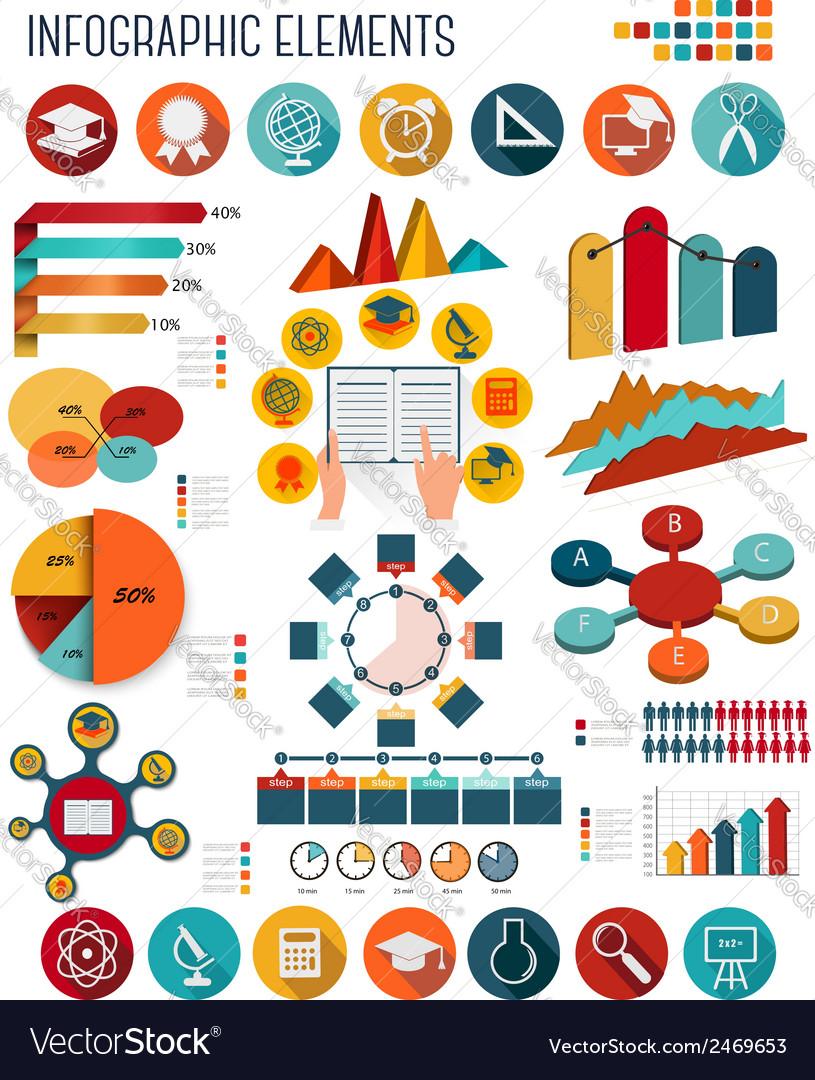 Big set of Education infographics elements