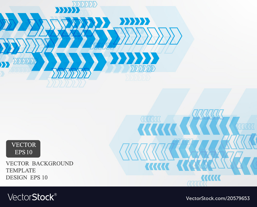 blue arrow pattern white background template vector image