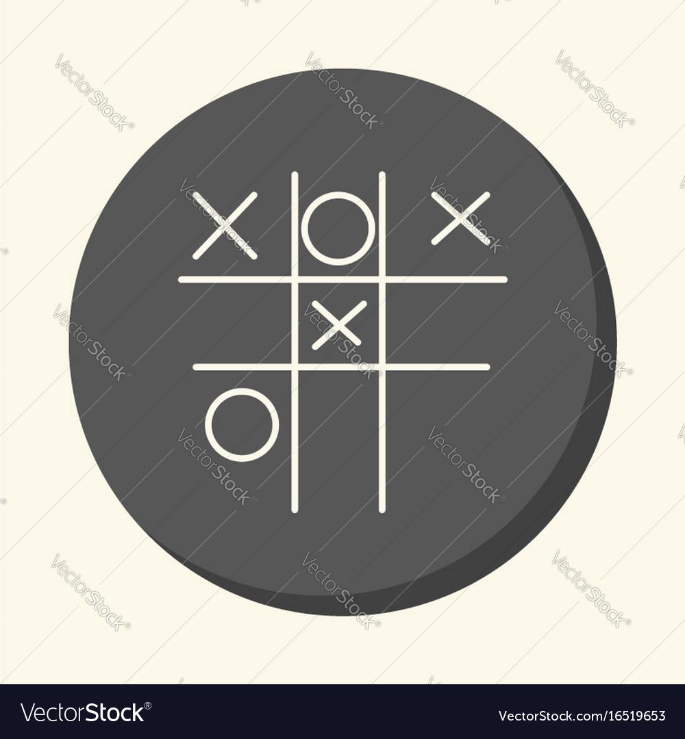 Children S Game Tic Tac Toe Round Icon Vector Image