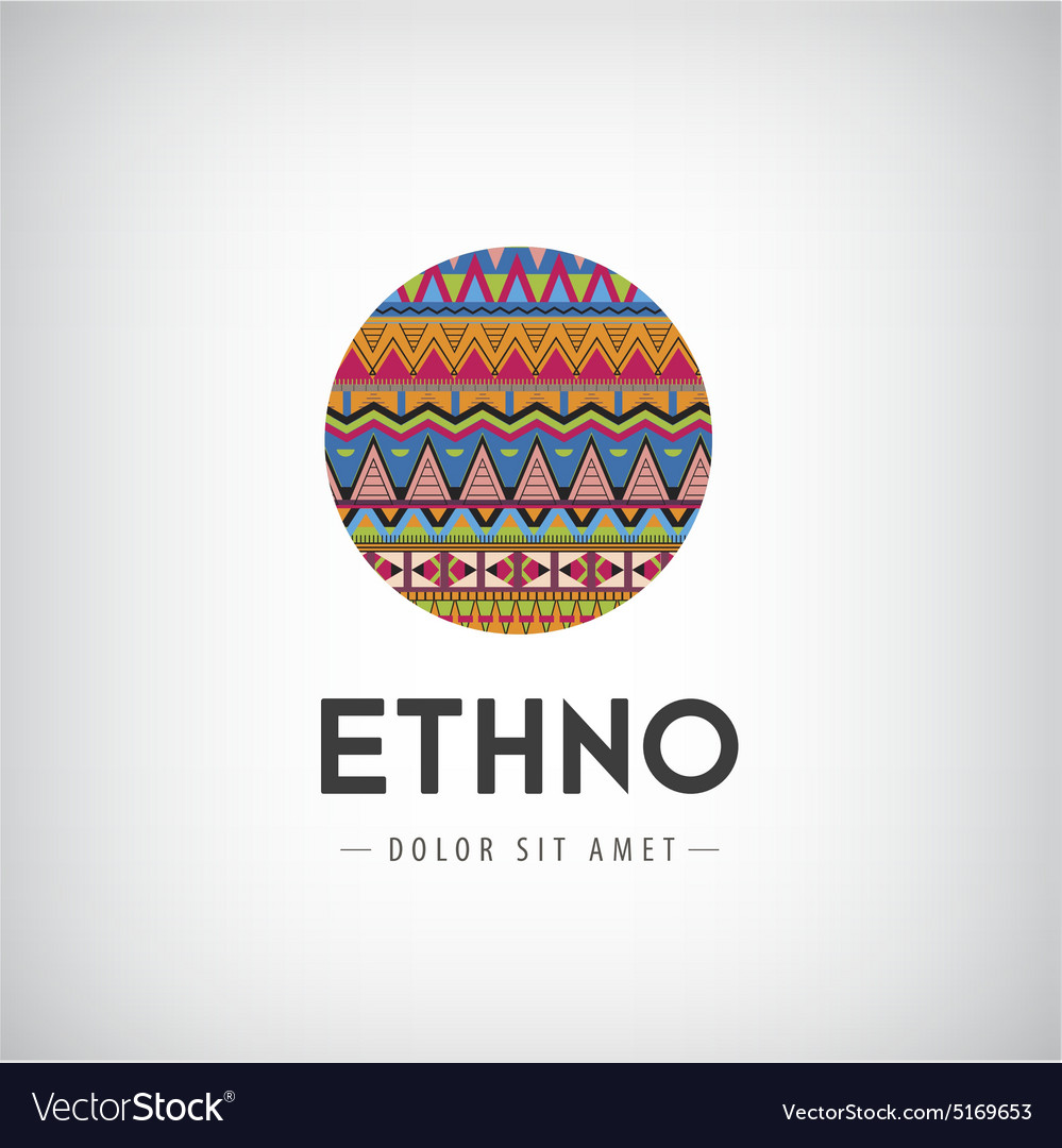Circle ethno tribal hipster decorated