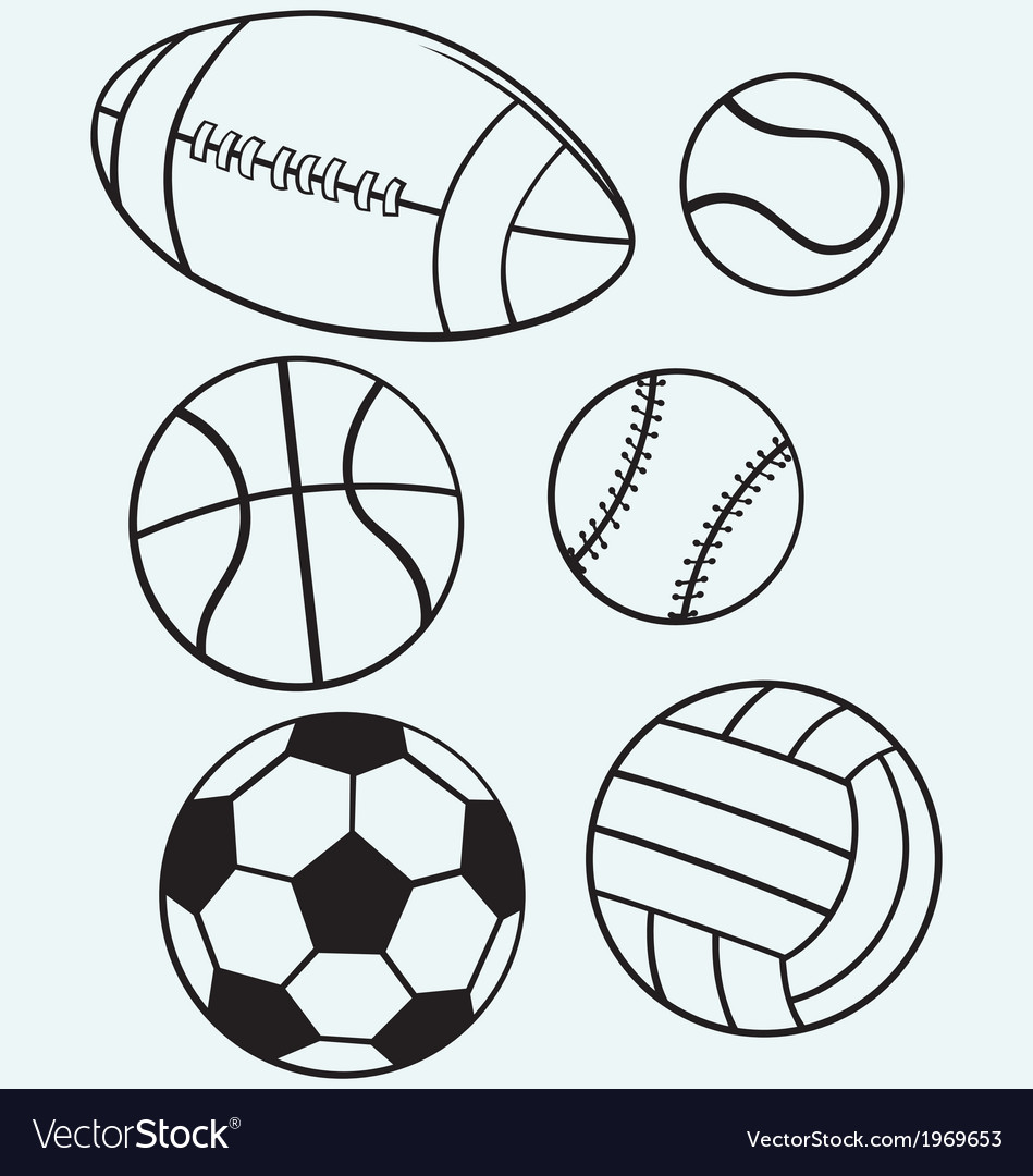 Collection sports balls