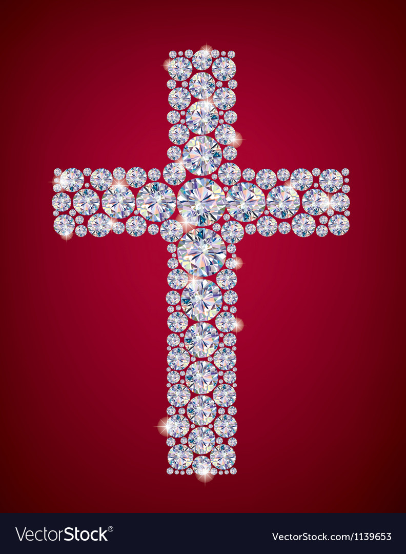 Cross diamonds vector