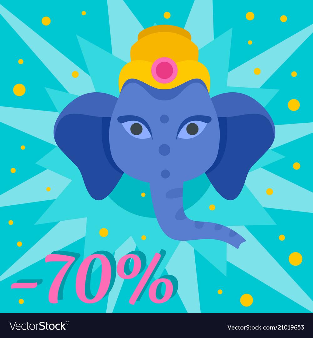Ganesh chaturthi sale background flat style
