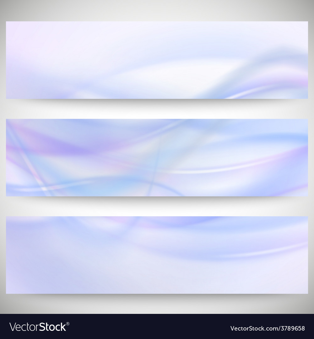 Abstract headers set wave design