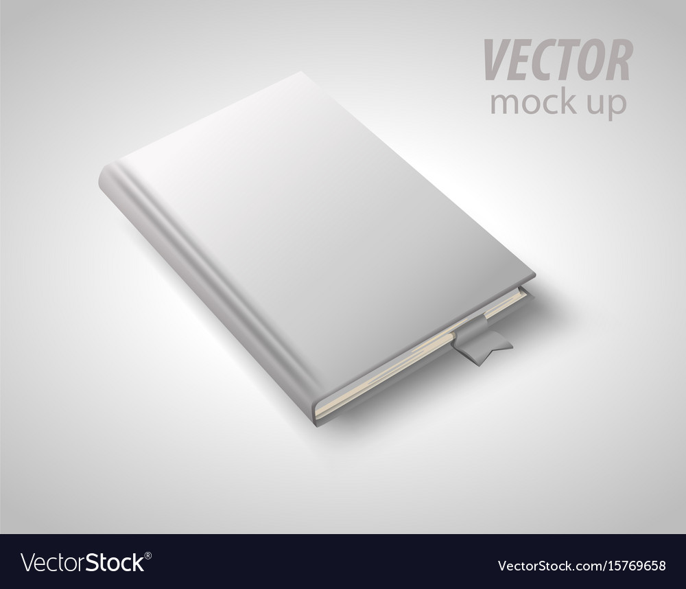 Blank book isolated on white to replace your