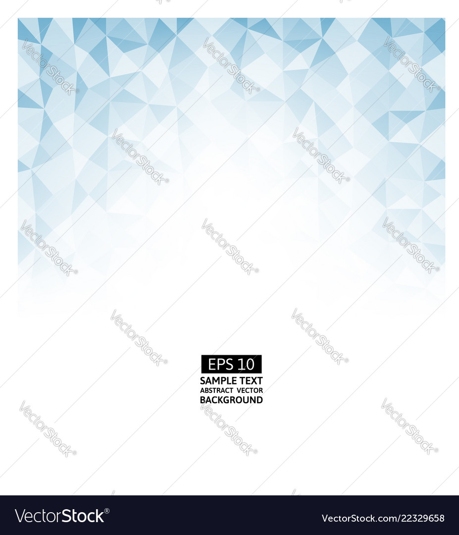 Blue polygon abstract background with copy space