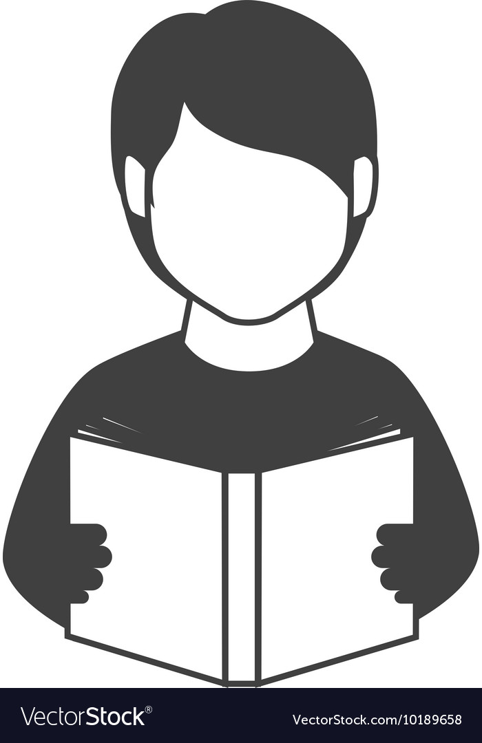 book reading person man education icon royalty free vector