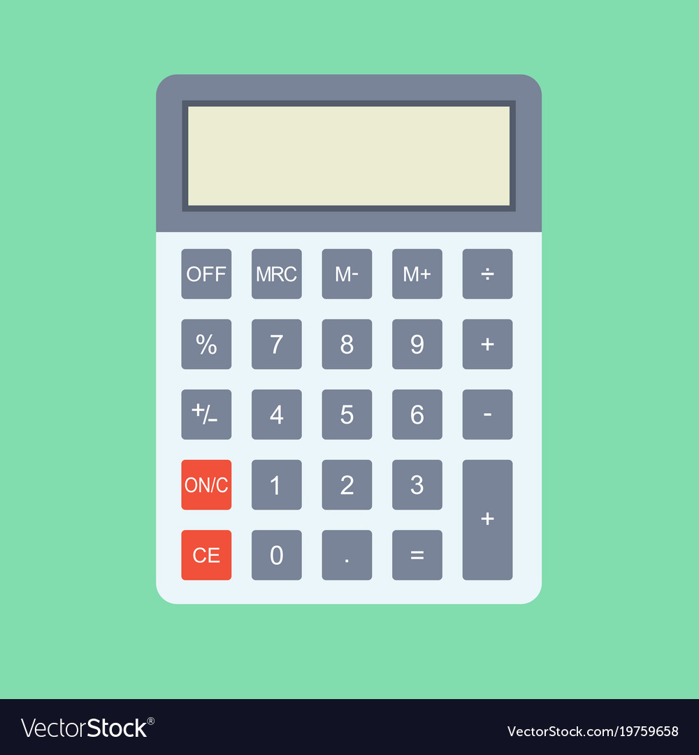 calculator icon in flat style calculator isolated vector image