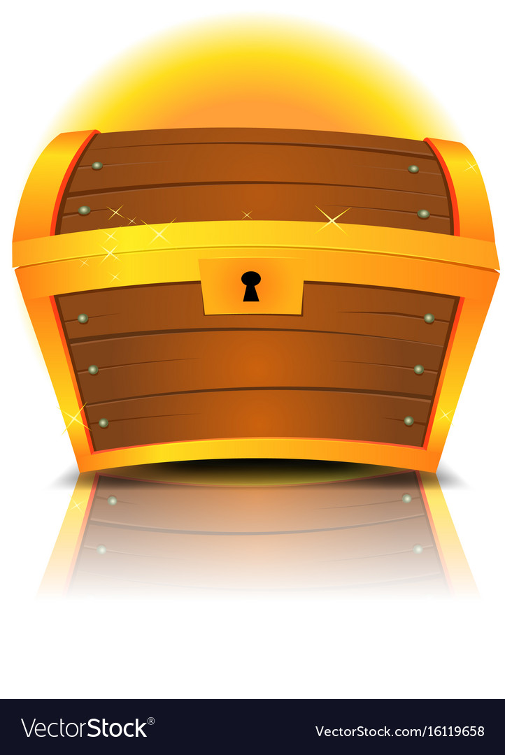 Closed cartoon treasure chest vector image