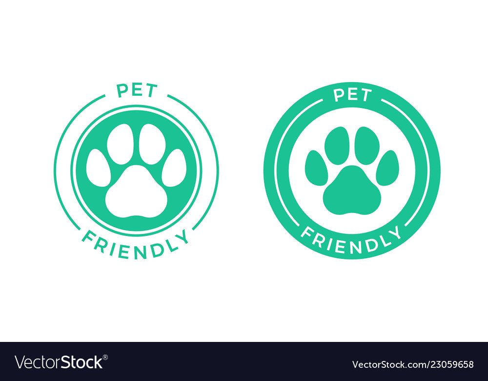 Pet friendly logo icon for pets allowed hotel sign