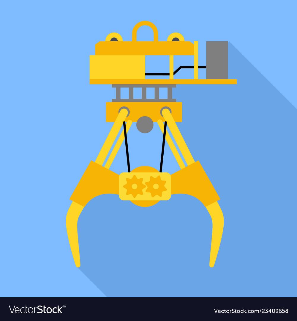 977172ba138 Seaport lift crane icon flat style Royalty Free Vector Image