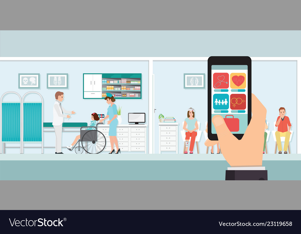 Smartphone innovative medical app with hospital
