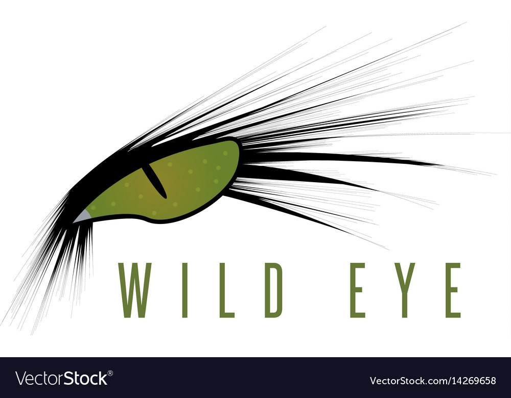 Wild eye of animal design template