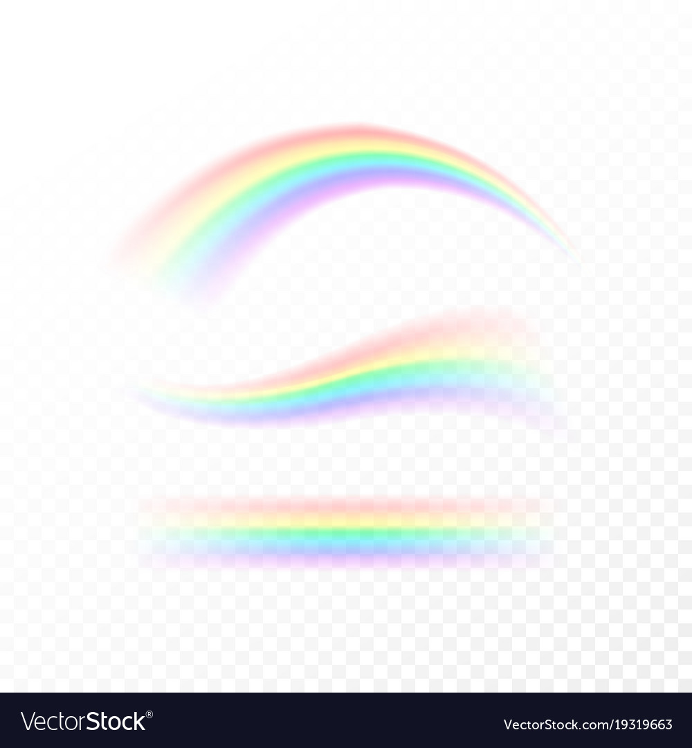 Abstract rainbow in different shapes spectrum of