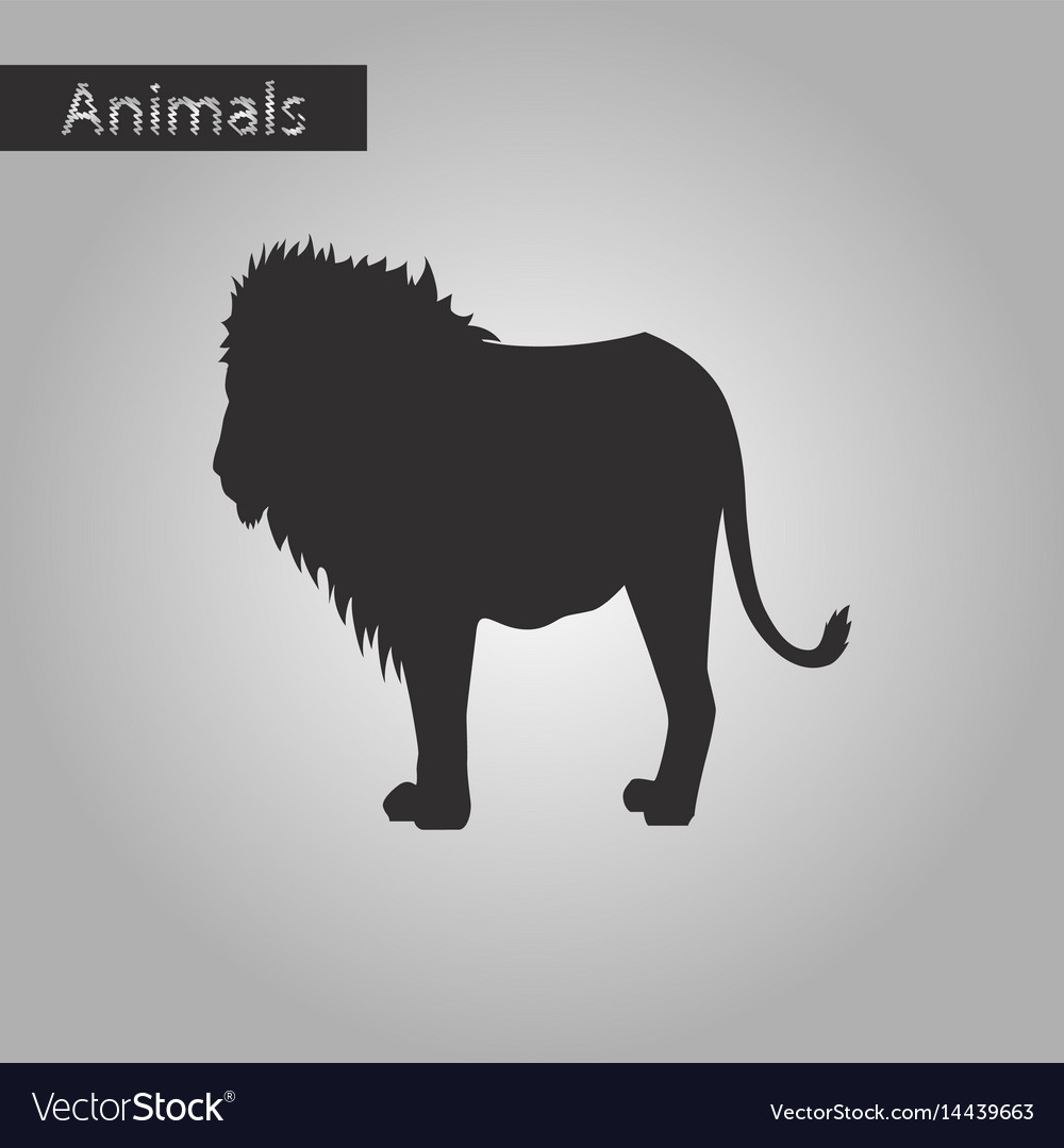 Black and white style icon of lion vector image