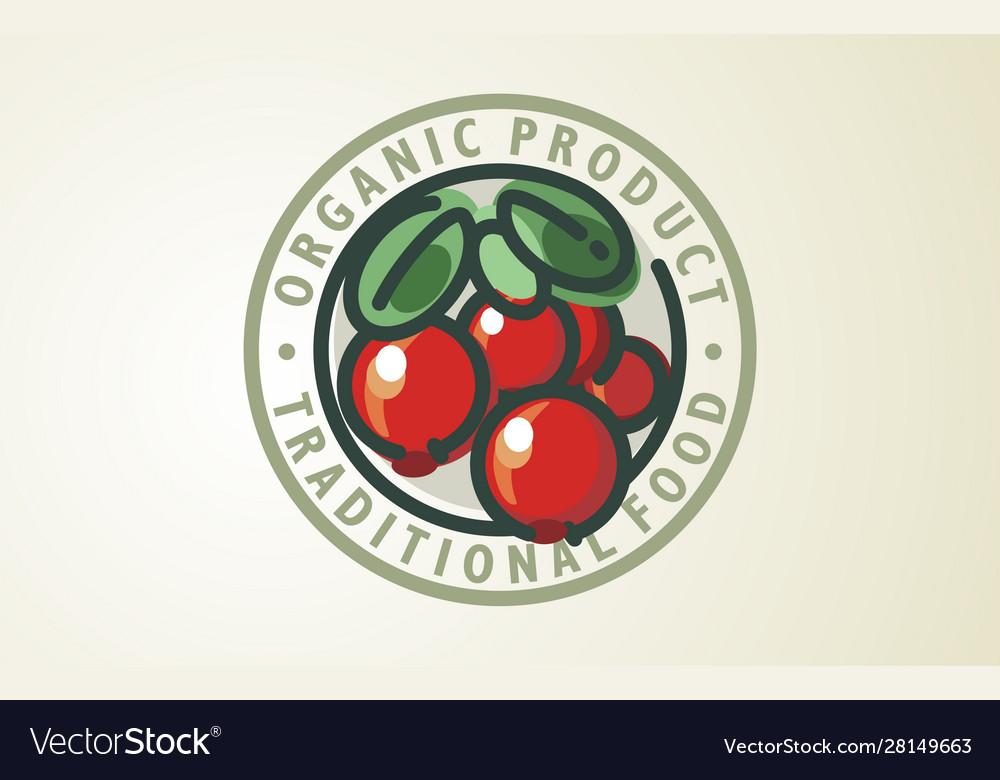 Cranberry logo design food organic
