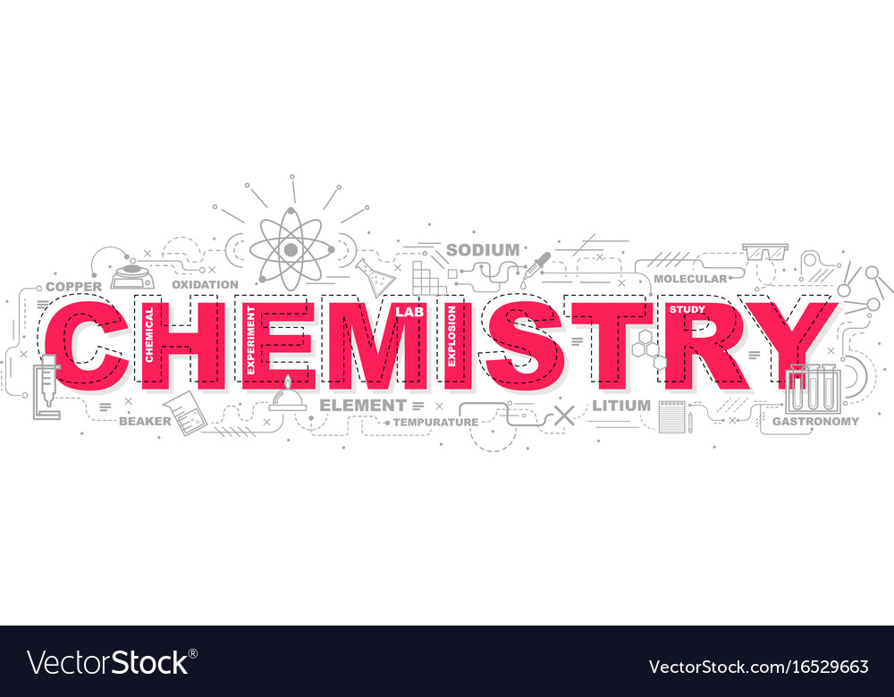 Creative of chemistry with line icon