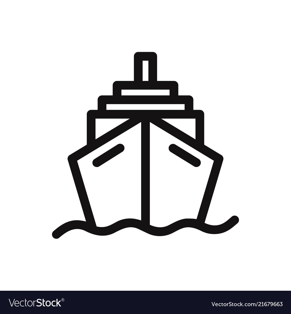 Cruise Icon Ship Transportation Symbol Royalty Free Vector