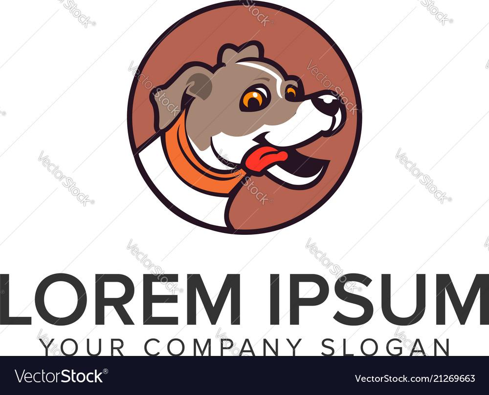 Dog logo design concept template