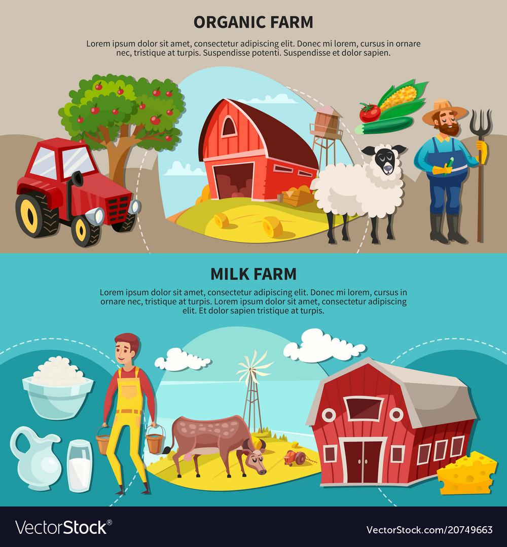 Farm cartoon composition set