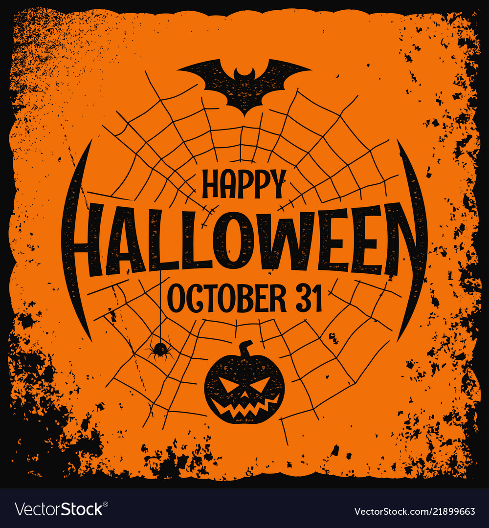 Halloween party night poster on background