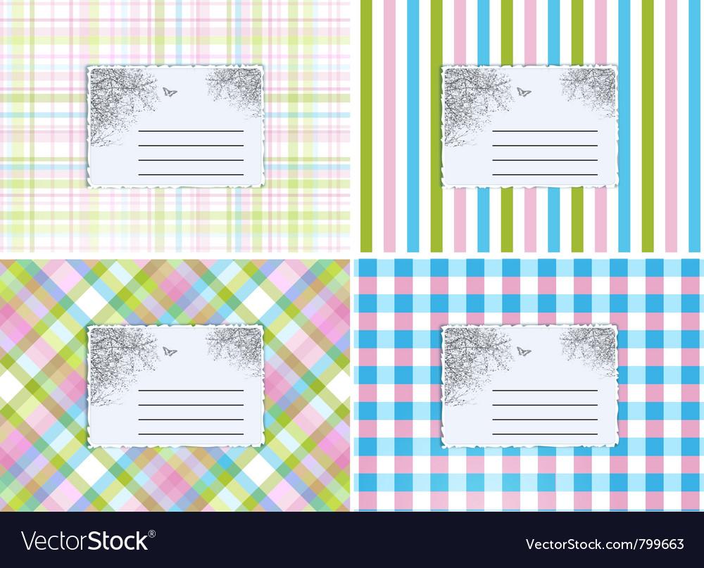 Retro cards vector image