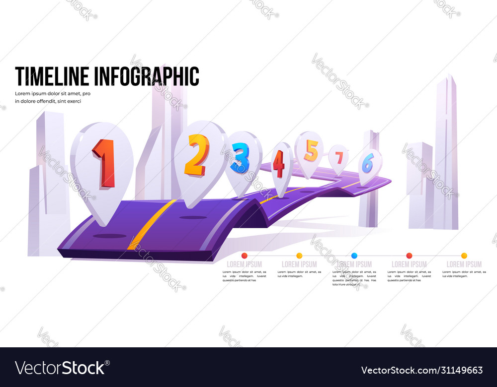 Road map infographic timeline