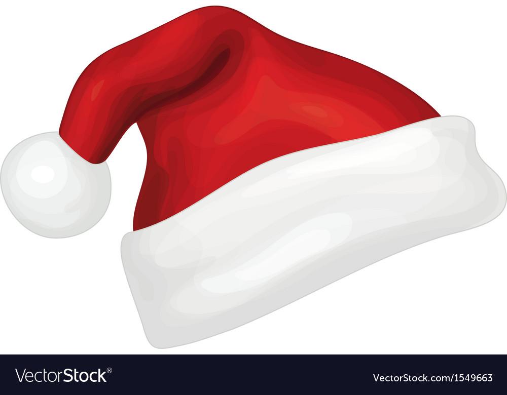 santa hat royalty free vector image vectorstock rh vectorstock com santa hat vector free santa hat vector free download