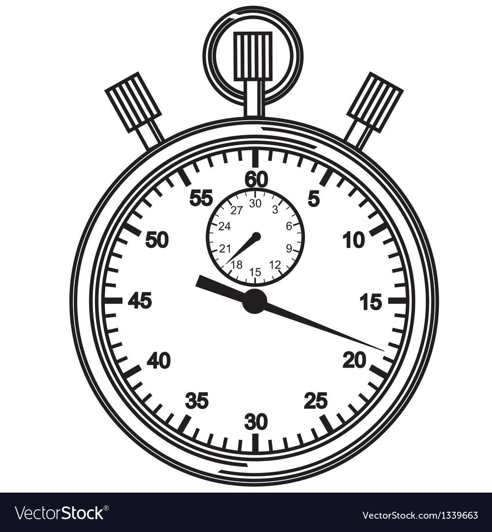 stopwatch royalty free vector image vectorstock