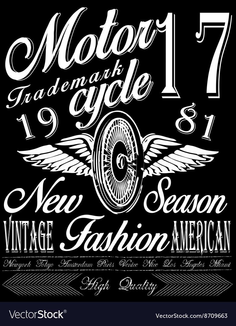 T-shirt graphicsmotorcycle company