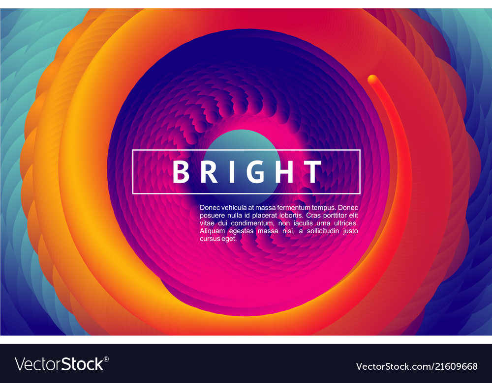 Abstract horizontal background with color vortex